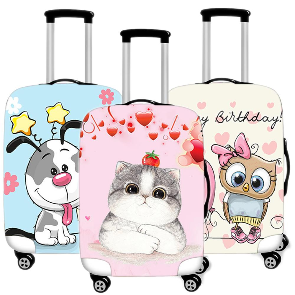 Suitcase Protective-Cover Accessories Travel Luggage Organizadores Elastic Animal Cute