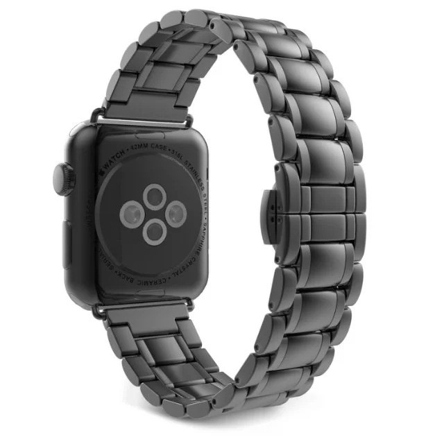 Suitable For Apple AppleWatch Metal Watch Strap Wu Zhu Steel Folding Clasps Watch Strap 38 Mm/42 Size