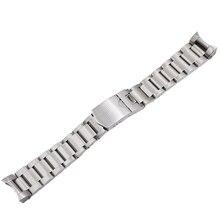 CARLYWET 22 مللي متر عالية الجودة 316L قلادة فضية من الفولاذ المقاوم للصدأ حزام (استيك) ساعة الأشرطة watchbands ل تيودور الأسود خليج