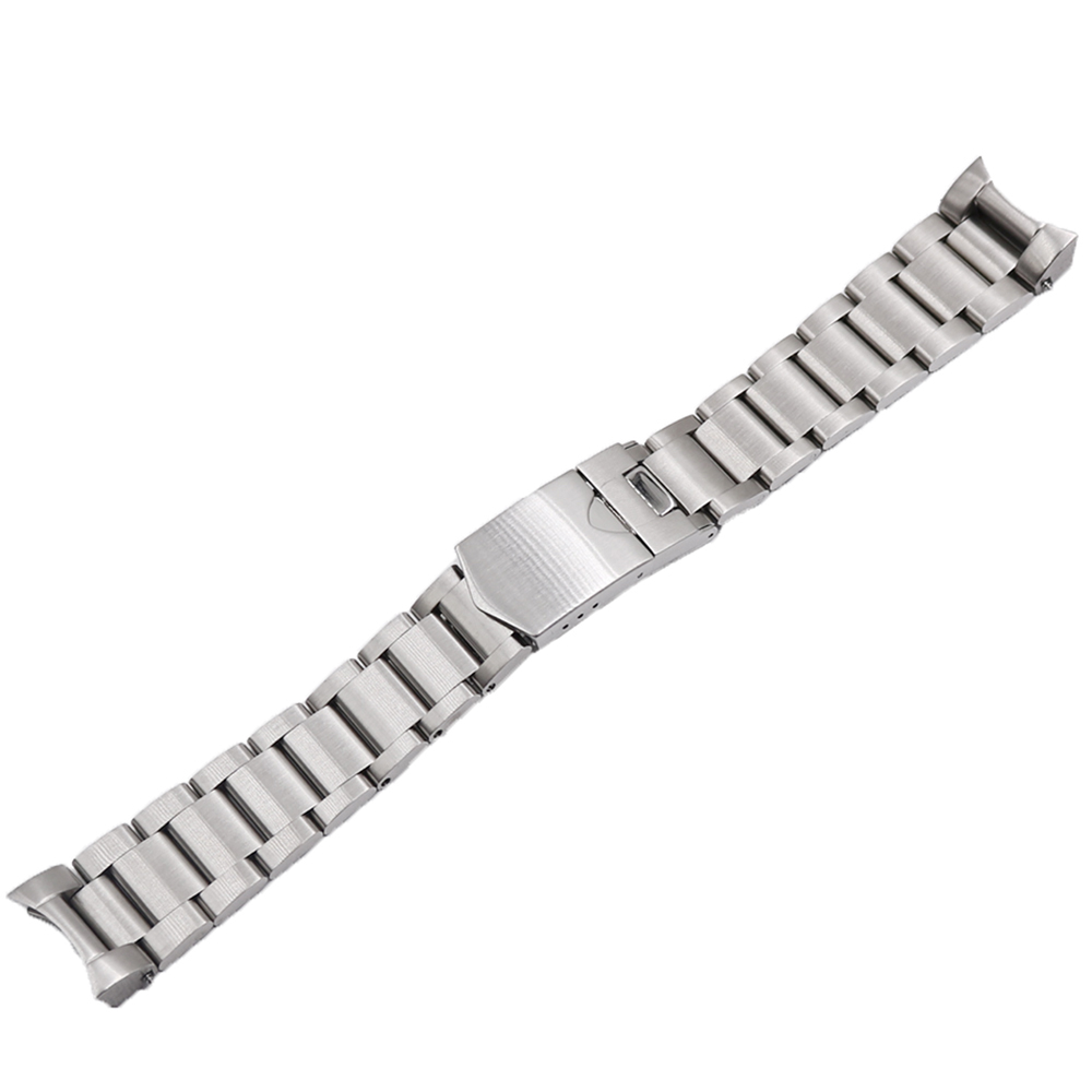 CARLYWET 22mm High Quality 316L Stainless Steel Silver Watch Band Straps Watchbands For Tudor Black Bay