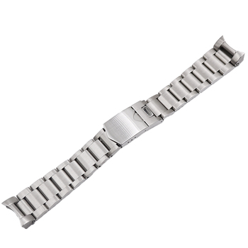 CARLYWET 22mm alta calidad 316L Acero inoxidable correa de reloj de plata correas para La Bahía Negra Tudor