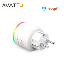 AVATTO 16A EU RGB wifi Smart Plug with Power Monitor, wifi wireless Smart Socket Outlet with Google Home Alexa Voice Control