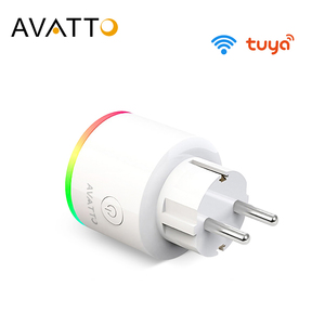 Image 1 - AVATTO 16A EU RGB wifi Smart Plug with Power Monitor, wifi wireless Smart Socket Outlet with Google Home Alexa Voice Control