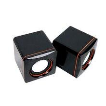 Мини Портативный проводной динамик компактный стерео небольшой квадратный 3,5 мм аудио разъем ноутбук Настольный компьютер USB динамик