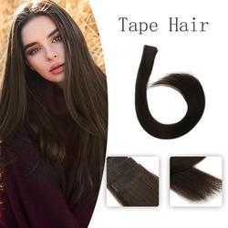 Vlasy 20 ''2,5 g/pc virgen cutícula 100% pelo Remy trama de piel recta cinta Invisible en extensiones de cabello humano