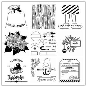 french Transparent Clear Stamps for DIY Scrapbooking/Card Making/Kids Christmas Fun Decoration Supplies