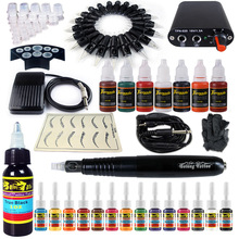 4 Color Professional Rotary Pen Tattoo Kit Immortal Tattoo Inks Set RCA Body Art Tools Set Tattoo Permanent Makeup Tattoo set solong 2019 professional tattoo permanent makeup eyebrow tattoo pen rotary tattoo machine free shipping tattoo guns