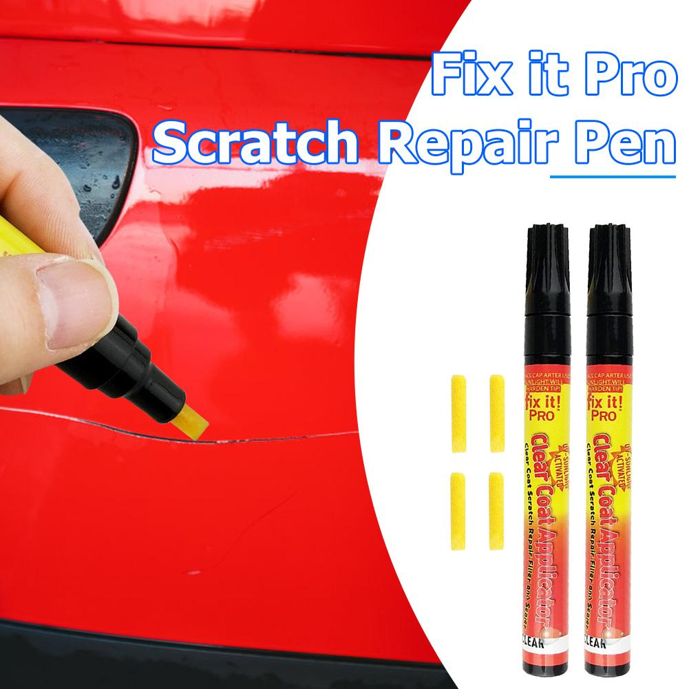 3pcs Car Styling Portable Fix It Pro Clear Car Scratch Repair Remover Pen Auto Body Coat Applicator Touch Up Painting Pen Tool