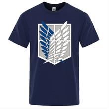 Attack On Titan T Shirt Wings Of Freedom Mikasa T-shirts Mens Japanese Anime Tshirt Men Short Sleeve Summer Brand Tees Tops Man