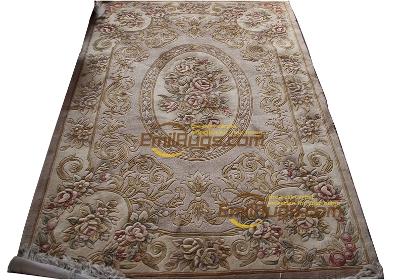 Machine Washable Carpet Vintage Hand Made French  Wool Rug Carpet Handmade  Home Decoration Carpet  Area Runner Carpet