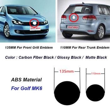 2 шт. 135 мм 110 мм ABS автомобильный передний Гриль значок задний багажник эмблема логотип для гольфа MK6