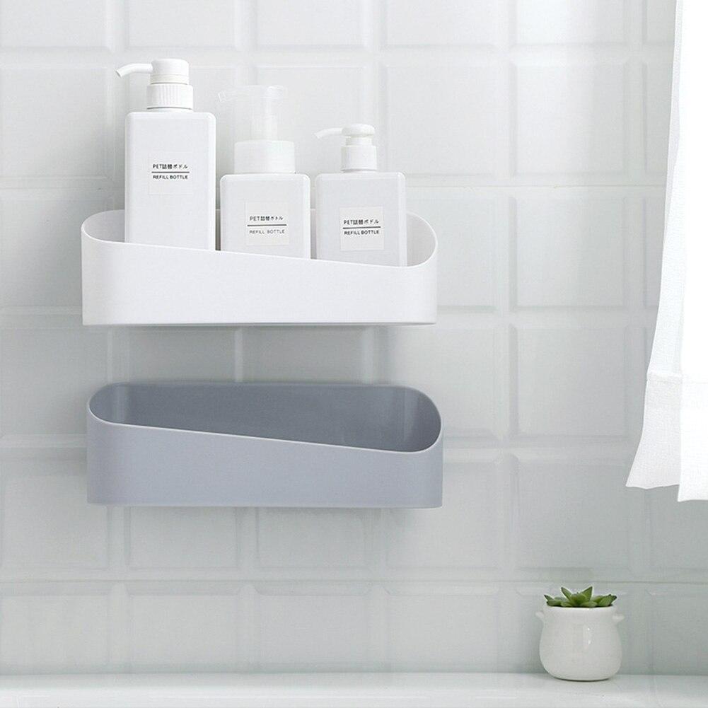 Estantería de montaje en pared para baño, estante de ducha, almacenamiento, cesta de succión, estante de almacenamiento, accesorios para Baño