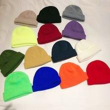 Женская зимняя шапка однотонные теплые мягкие вязаные шапки