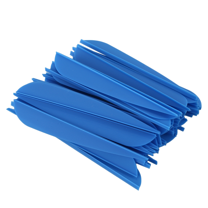 Arrows Vanes 4 Inch Plastic Feather Fletching For DIY Archery Arrows 50 Pack