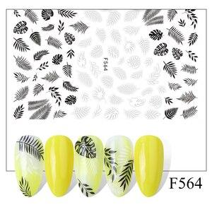 Image 3 - 3D kış meyve kaymak çivi yapışkan yazı çıkartmaları Flamingo tasarım yapıştırıcı manikür İpuçları Nail Art süslemeleri CHF554 563