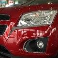 Для Chevrolet Trax 2014 2015 2016 ABS Хромированная передняя фара для век Крышка для бровей отделка наружное украшение авто аксессуары