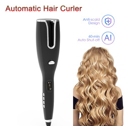 Automatic Curling Irons Time Temperature Adjusted Hair Spin Curler Wand Waver LCD Rotating Small Portable Hair Styling for Women