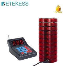 RETEKESS Ristorante Cercapersone Sistema di Chiamata Senza Fili Guest Paging del Sistema di Accodamento Cercapersone Montagne Beeper 1 Tastiera Trasmettitore + 10