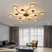 Modern led Ceiling chandeliers For livingroom Chandelier lighting minimalism Aluminum Acrylic lustres para sala de jantar