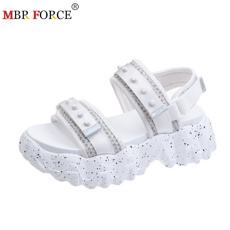MBR FORCE Women Sandals 2020 Open Toed Wedge Cool Platform Breathable Thick Bottom Women Fashion Summer Women Shoes Beach Sandal