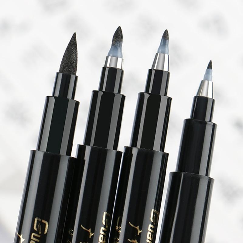 Qualidade nova caligrafia caneta conjunto fino forro ponta média escova canetas para assinatura desenho mão lettering escola álbum de arte suprimentos