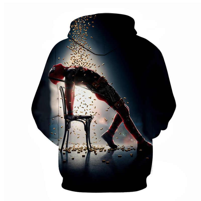 Cosplay für Film Venom Hoodies Deadpool 3D anime hoodie streetwear Spiderman fortnited Sweatshirts 5xL