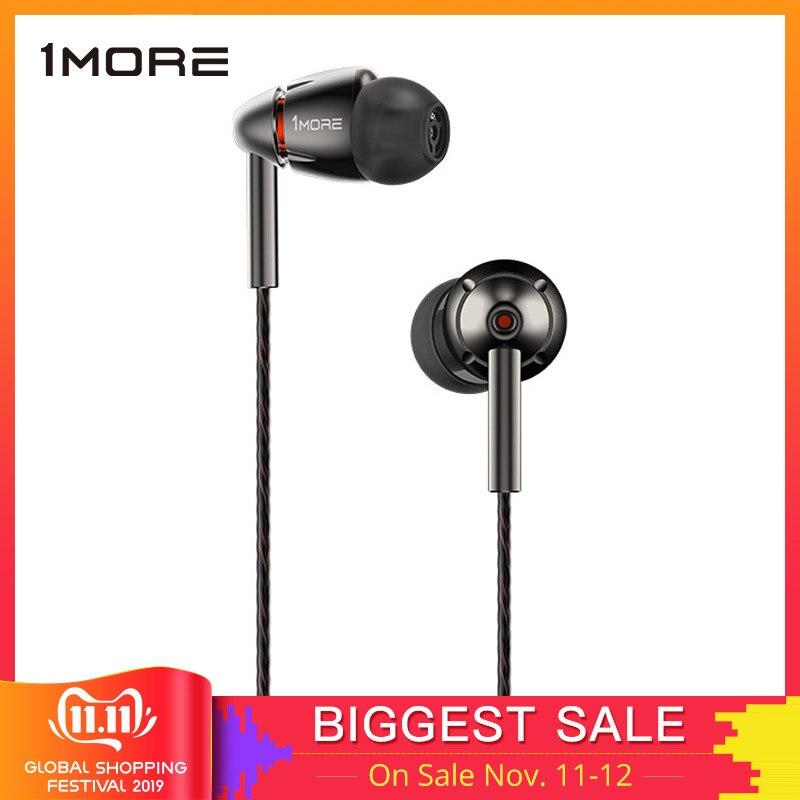 1 mais quad driver fone de ouvido com microfone 1 mais quad e1010 alta fidelidade hi-res fones de ouvido fone de ouvido para apple android xiaomi