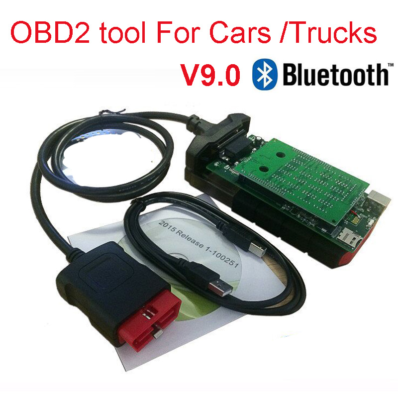 Quality A++ <font><b>VD</b></font> <font><b>DS150E</b></font> CDP pro Bluetooth V9.0 vci for delphis autocome car trucks OBD2 diagnostic tool 2015.3 keygen FREE Ship image