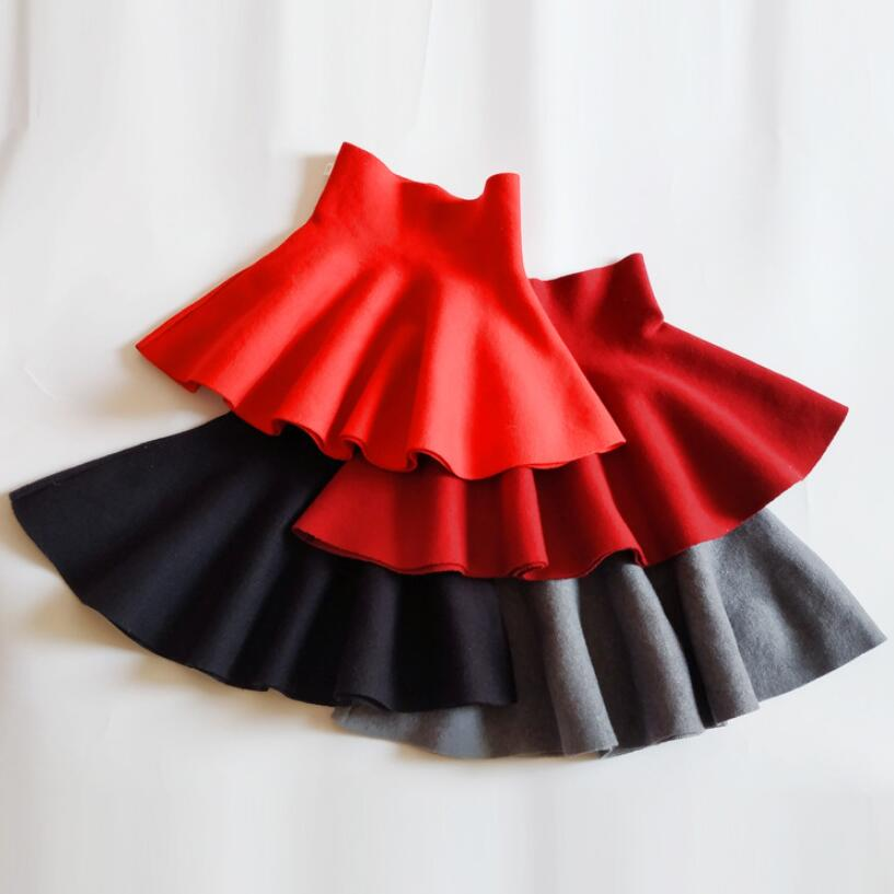 2-12 Years Baby Toddler Children Clothes School Girls Knitted Skirt Bottoming Princess Skirts For Kids Children Clothes JW6491