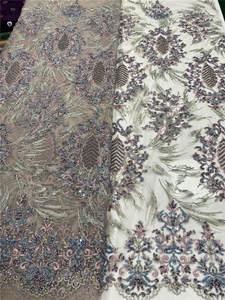 Lace-Fabric Beaded Handmade African Nigerian French High-Quality for Dress Sew-Ya3279b-3