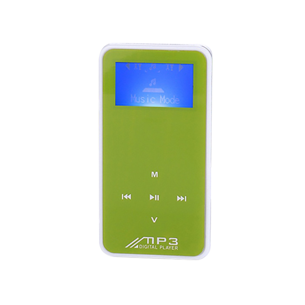 Mosunx MP3 Player Black MicroSD Card Slot And FM Radio Portable HiFi Lossless Sound With A Large Readable Screen