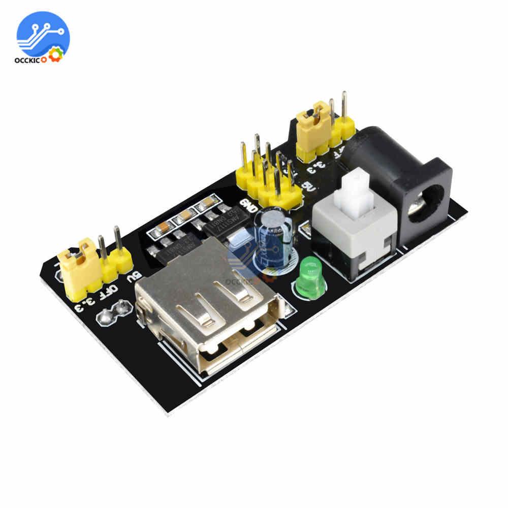 MB102 Breadboard módulo de alimentación Puerto USB 3,3 V 5V para Arduino sin soldadura pan Board DIY Kit