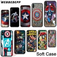WEBBEDEPP 20N Captain Marvel Soft Phone Case for iPhone X XR XS 11Pro Max 7 8 6S Plus 5S SE 8Plus 7Plus 11 Pro Cases