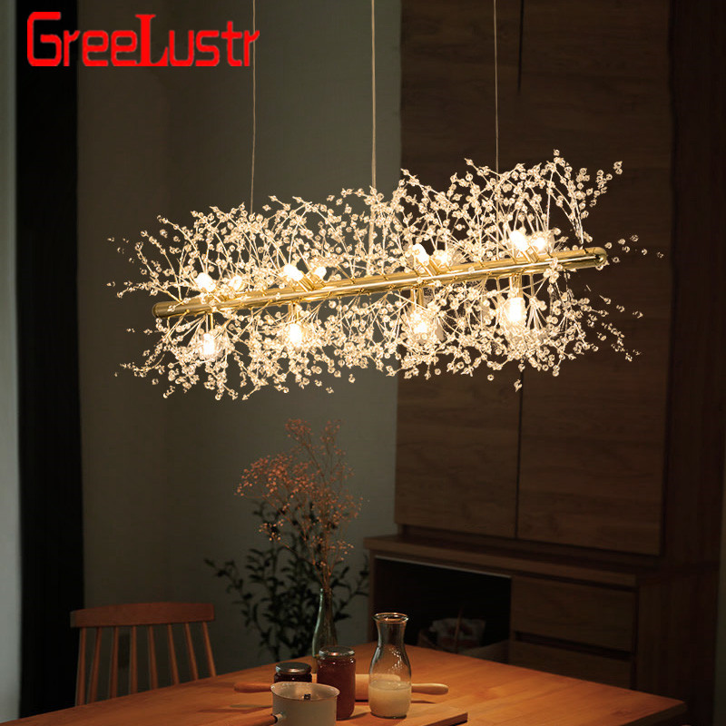 Modern Firework Design Chandeliers Light Fixtures Snowflake Creative Nordic Chandelier Lustres Hanging Pendant Lamp For Bedroom