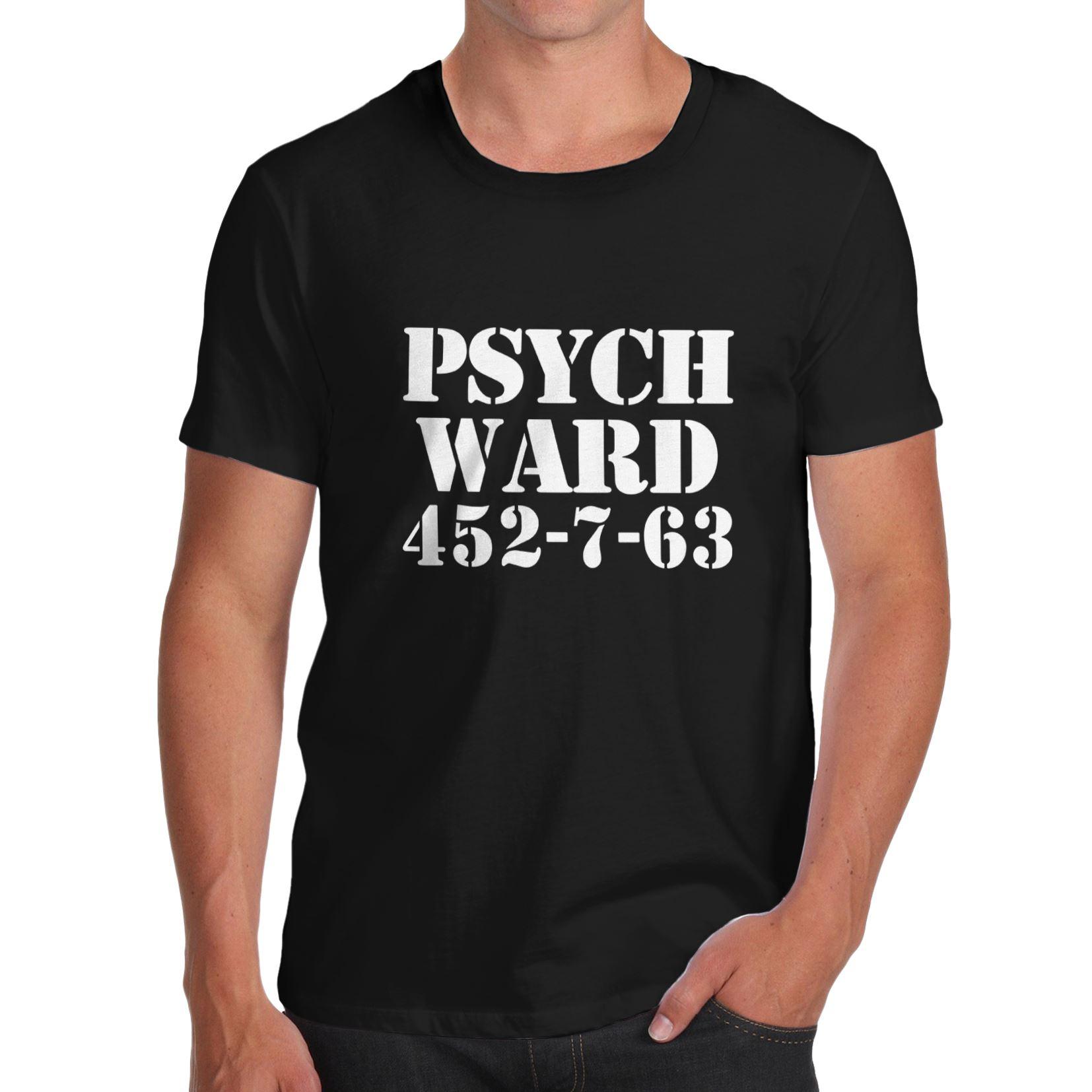 Nova Verão T-shirt Engraçado Torcida Envy Ala Psiquiátrica 452-7-63 Novidade dos homens Camiseta 100% Algodão camiseta de Manga curta Casuais Tamanho Euro