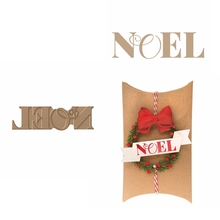 Hot Foil Plate NOEL Glimmer Decorative Word for DIY Scrapbooking Embossing Crafts Cards Decoration New 2019
