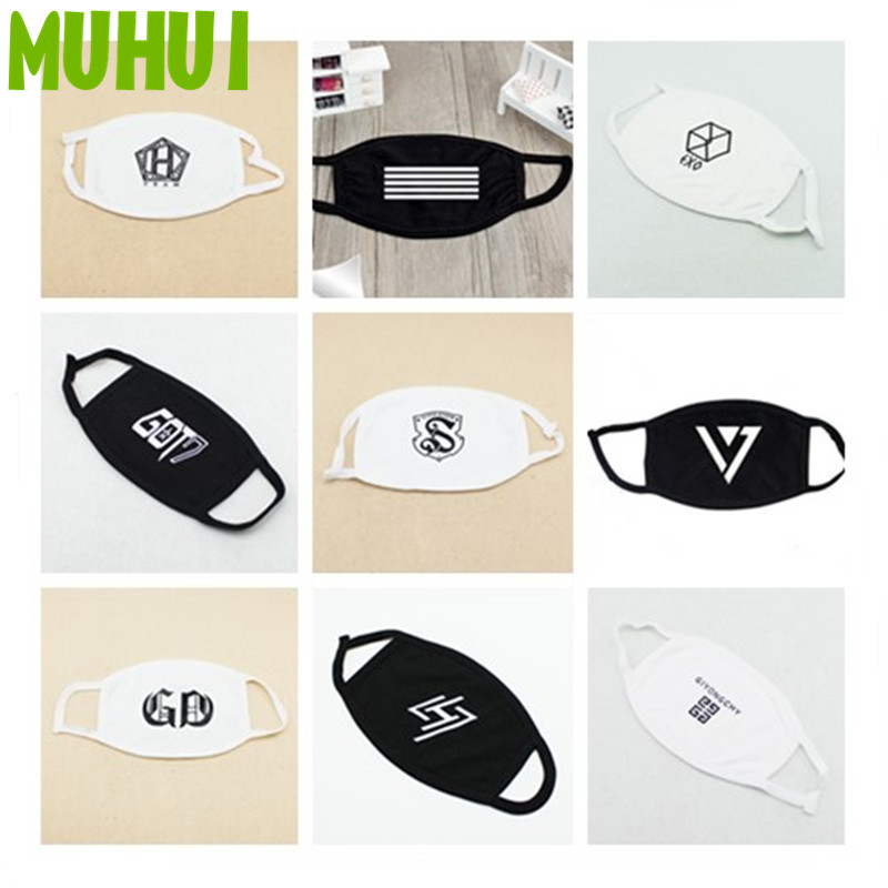 Classic Kpop Groups Luhan Seventeen Cotton Dustproof Mouth Face Mask Unisex Cycling Anti-Dust Facial Protective Cover Masks B217