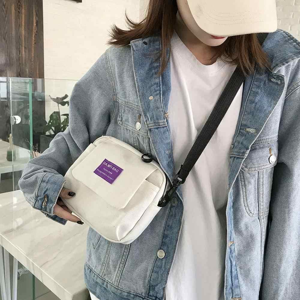 Simples Pequeno Saco de Lona para Homens Mulheres Ombro Mensageiro Bolsa Bolsa Unisex Saco Crossbody Bolsas Feminina Mujer Sac Sac UM Dos UM Principal