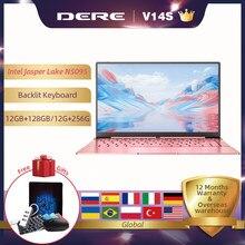 Dere V14S 14.1inch Laptop Intel Celeron N5095 DDR4 12GB RAM 256GB SSD Backlit Keyboard Windows 10 1920x1080 Computer PC Notebook