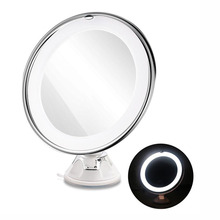 7X Magnifying Makeup Mirror Cosmetic Led Locking Suction Cup Bright Diffused Light 360 Degree Rotating