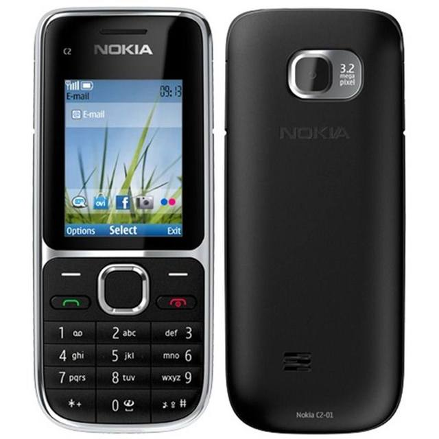Nokia C2 C2-01 Unlocked GSM Mobile Phone English&Hebrew Keyboard Support Logo On The Button Original Used Cellphones 3
