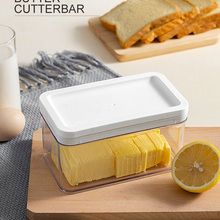 Transparent Plastic Butter Storage Box Container Cheese Cutting Server Keeper Tray Partition Cheese Board Separator Food Tools