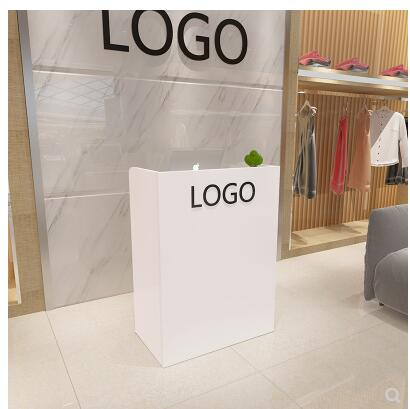 Cosmetics Shop Cashier Counter Contracted Barber Front Desk Small Shop Children's Wear Shop Bar Table Fashion Creative