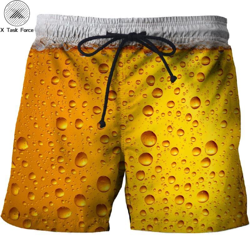2019 Beer 3D Print Summer Beach Shorts Streetwear Men Board Vacation Shorts Anime Short Plage Casual Quick Dry Drop Ship