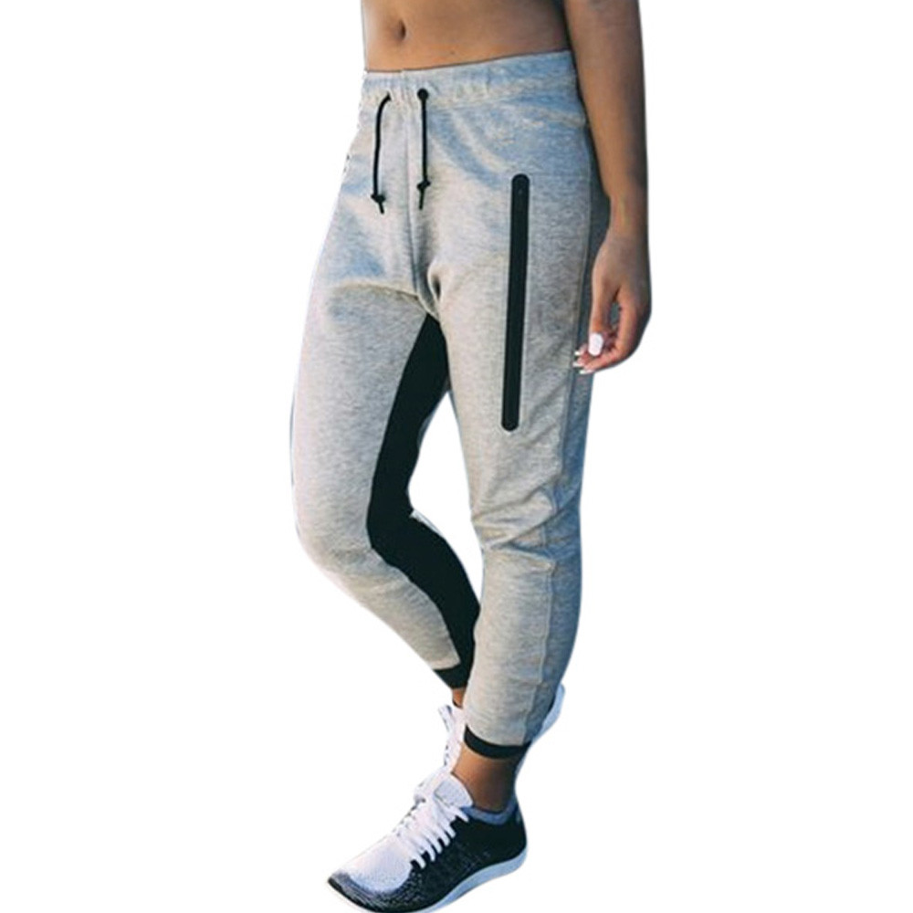 Women Jogger Dance  Trousers  Dance Harem Leggings Sport Women Fitness Pants Baggy Slacks Trousers Sweatpants A502