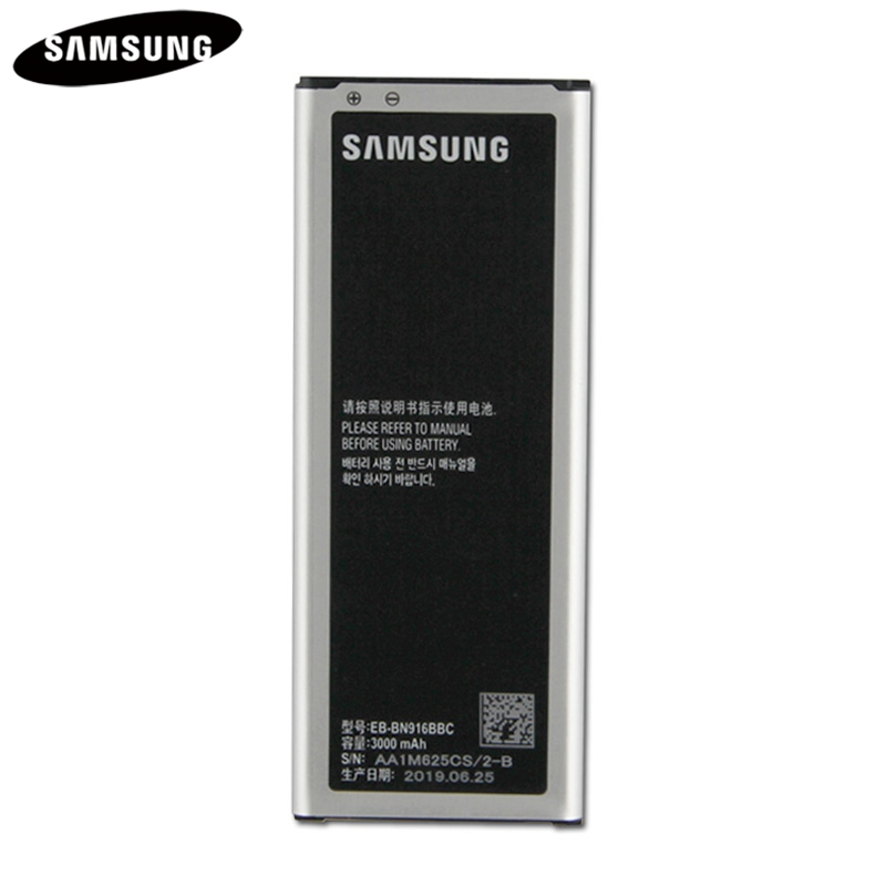 Original <font><b>Battery</b></font> EB-BN916BBC EB-BN916BBE For Samsung GALAXY NOTE4 N9100 N9108V N9106W <font><b>Note</b></font> <font><b>4</b></font> Genuine Replacement <font><b>Battery</b></font> <font><b>3000mAh</b></font> image