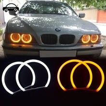 Бело желтое кольцо с ореолом ангельские глазки для bmw e36 e38