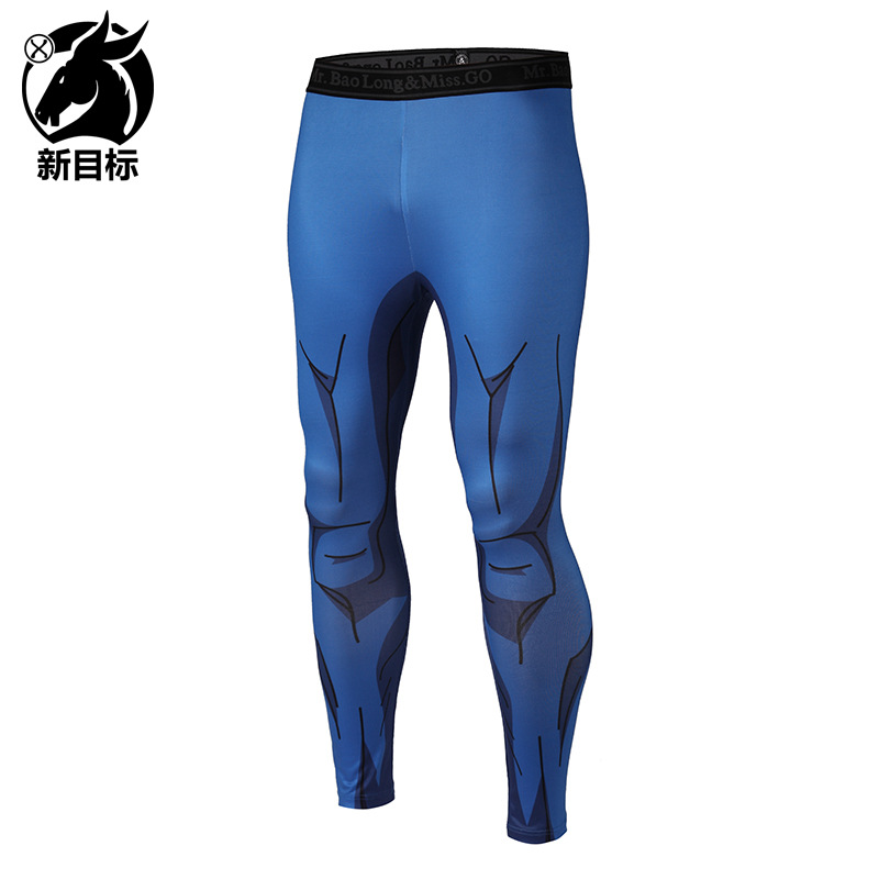 Leggings 2019 Spring Running Fitness Pants Anime Cartoon 3D Printed Elastic Waistline Sports Tight Yoga Pants