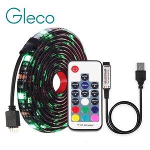 Image 5 - DC5V USB LED streifen 5050 RGB RGBW RGBWW 50CM 1M 2M TV Hintergrund Beleuchtung Flexibe LED streifen klebeband IP20/IP65 wasserdicht