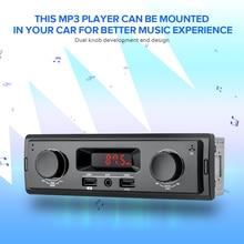 1 Din автомагнитола 12 В Поддержка FM Aux в приемнике USB MP3 радио плеер Авто аудио стерео Нет Bluetooth Нет дистанционного управления